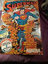 Aurora model  Superman Comic Scenes  original  1974 no 185 complete  instruction