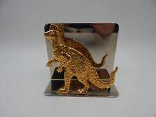 Dinosaur Letter Holder San Pacific Chrome Vintage
