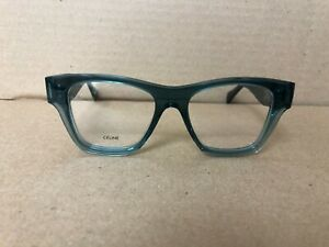 Authentic CELINE Clear Green Teal Eyeglasses CL5014IN - 098 50-17 145