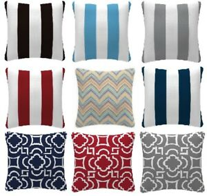 Outdoor FILLED cushions covers with inserts OR cover only. Weather resistant.