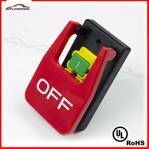 Emergency Shutoff Stop On/Off Paddle Switch 220 Volt 16A Table Saw Craftsman UL
