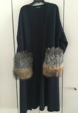 Dolce & Gabbana Women's Cashmere Coat With Removable Fur Pockets S/M PSRP $2800