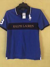 NEW POLO RALPH LAUREN Boys Size L(14-16) Blue/Navy/Gold 'Big Pony' Polo Shirt #3