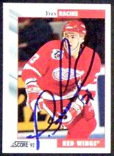 Yves Racine Detroit Red Wings 1992-93 Score Signed Card