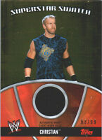 WWE Christian 2010 Topps GOLD Superstar Swatch Relic Card SN 63 of 99