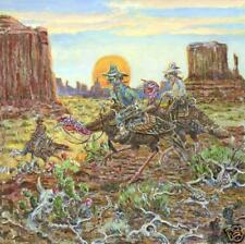 Lowell Davis Dalton Gang Monument Valley Border Terrier - 20 x 20 Giclee Canvas