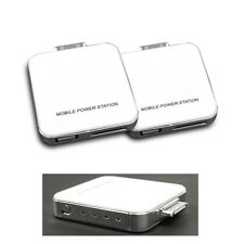 2 2200MAH EXTERNAL WHITE BATTERY MOBILE CHARGER USB IPHONE 4S 4 3GS IPOD CLASSIC