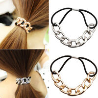 Hipster Women Chain Elastic Headband Elastic Hair Band Rope Head Knot Rope Px