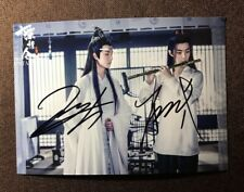 signed YIBO Xiao Zhan autographed group photo The Untamed 王一博 肖战 陈情令 5*7 92019M6