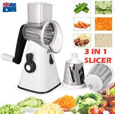 Kitchen Vegetable Food Manual Rotary Drum Grater Chopper Slicer Fruit Cutter AU