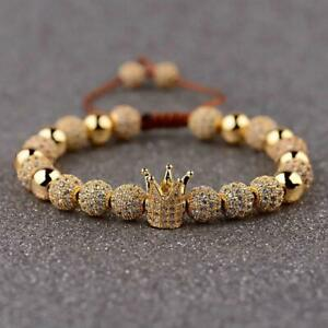 Men's Gold Crown Bracelet
