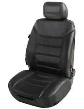 ZIPP IT Universal Echt Leder Auto Sitzbezug schwarz, Leder Auto Schonbezug