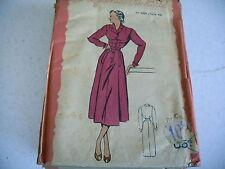 vintage LES PATRONS DE MARIE CLAIRE Robe chemisier T 48 N° 4186 ans 50