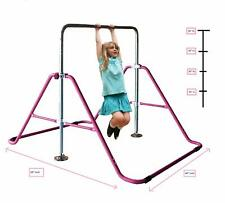 Kids Jungle Gym Monkey Bar Horizontal Kip Bar Adjustable Climb Tower Gymnastics