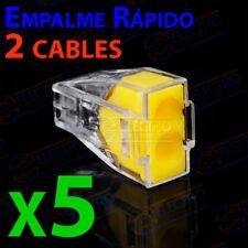 5x Conector empalme rapido 2 CABLES 2,5mm terminales pines regleta