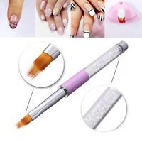 1pc Gel Ombre Nail Art Brush Nylon Hair Glitter Rhinestone Handle Cat Eye Cap UV
