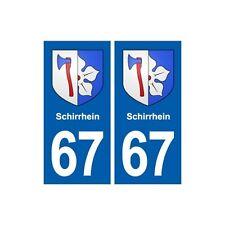 67 Schirrhein blason autocollant plaque stickers ville arrondis