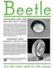 1937 Beetle Plastic Products AD Railway Express Agency Translucent Globe