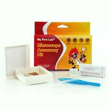 Beginners Microscope Accessory Kit- Slides, Cover Glass, Forceps, Dropper, Bulb