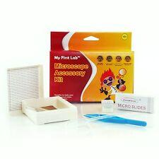 Beginners Microscope Accessory Kit- Slides, Cover Glass, Forceps, Dropper, Bulb