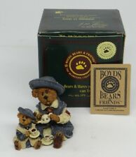 BOYDS BEARSTONE COLLECTION~CATHERINE AND CAITLIN BERRIWEATHER...FINE CUP OF TEA