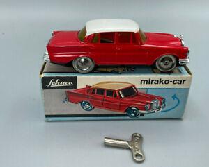 Vintage SCHUCO 1001/1 MIRAKOCAR RED MERCEDES CAR  With Key & Box  NEW