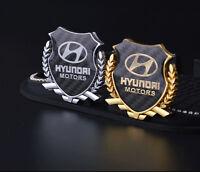 1x 3D Car Side Metal Badge Emblem Decal Sticker Fit  For Hyundai Car