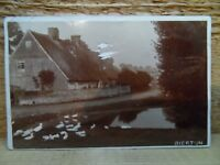 Old postcard - Bierton - old real photo card - Buckinghamshire