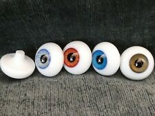 More details for round glass paperweight eyes - reborn dolls eyes - choice of colours 14mm - 24mm