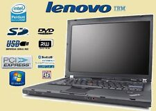 PC PORTATILE USATO NOTEBOOK LENOVO IBM LAPTOP CORE2 DUO Vpro T61 4 GB RAM LAPTOP