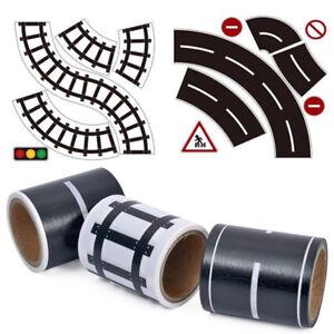 Railway Road Washi Tape Sticker Wide Creative Traffic Road Kids Toy Car Play Kit
