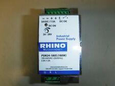 RHINO switching power supply, 24 VDC (adjustable) output, 7.5A, 180W, 120/240 VA