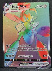 Pokemon Card Scizor VMAX 193/189 Rainbow Hyper Rare Darkness Ablaze SWSH