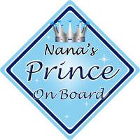 Non personnalisé enfant//bébé à bord voiture signe ~ mummys princes ~ l bleu