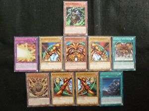 YU-GI-OH SET OF 10 LDK2 EXODIA THE FORBIDDEN ONE CARDS MINT