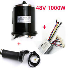 48V 1000W Brush Motor and Controller and Hand Grip for Go Kart Scooter ATV