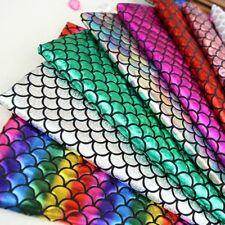 Metallic Mermaid Scale Fabric Stretch Glitter Fancy Costume Decor Foil Crafts