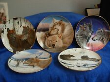 Eric Renk Eternal Unity Danbury Wolf Lot of 5 Limited Edition Collector Plates