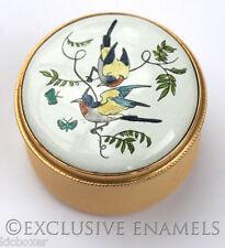 Staffordshire Enamels Tropical Birds Enamel Box