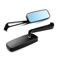 Black universal rear view mirror Harley Softail Sportster 1200 883 XL XR rectang