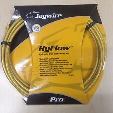 Jagwire HyFlow Hydraulic disc brake hose gold medal color, fittings included.