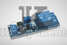 NE555 Modulo temporizzatore regolabile  timer Arduino relè relay LED