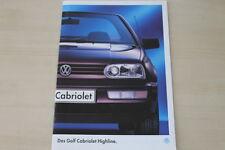 184517) VW Golf III Cabrio - Highline - Prospekt 01/1995