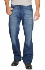 Bootcut Regular Size Distressed 32L Jeans for Men