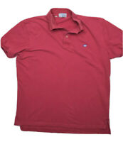 Southern Tide The Skipjack Polo Shirt Size L Red Coral Short Sleeve Prep