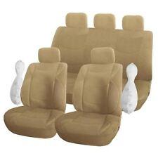 Housse pour siège de voiture luxe couleur Beige 9 pieces  (carat)