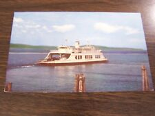 VINTAGE - M.V. ADIRONDACK - MOST SENIC FERRY CROSSING IN NORTH AMERICA POSTCARD
