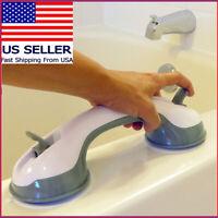 Bath Safety Handle Suction Cup Handrail Grab Bathroom Grip Tub Shower Bar Rail