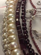 NEW Jewellery Making, Garnet, Freshwater Pearls, Silver Plated Wire & Findings
