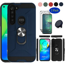 For Moto G8 Power/G8 Plus Shockproof Hard Case Cover With Stand/Screen Protector